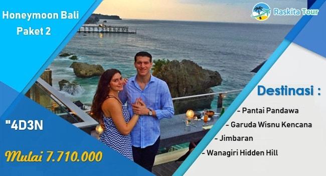 paket 2 wisata honeymoon bali 4 hari