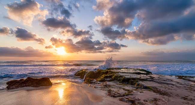 pantai dreamland bali sunset