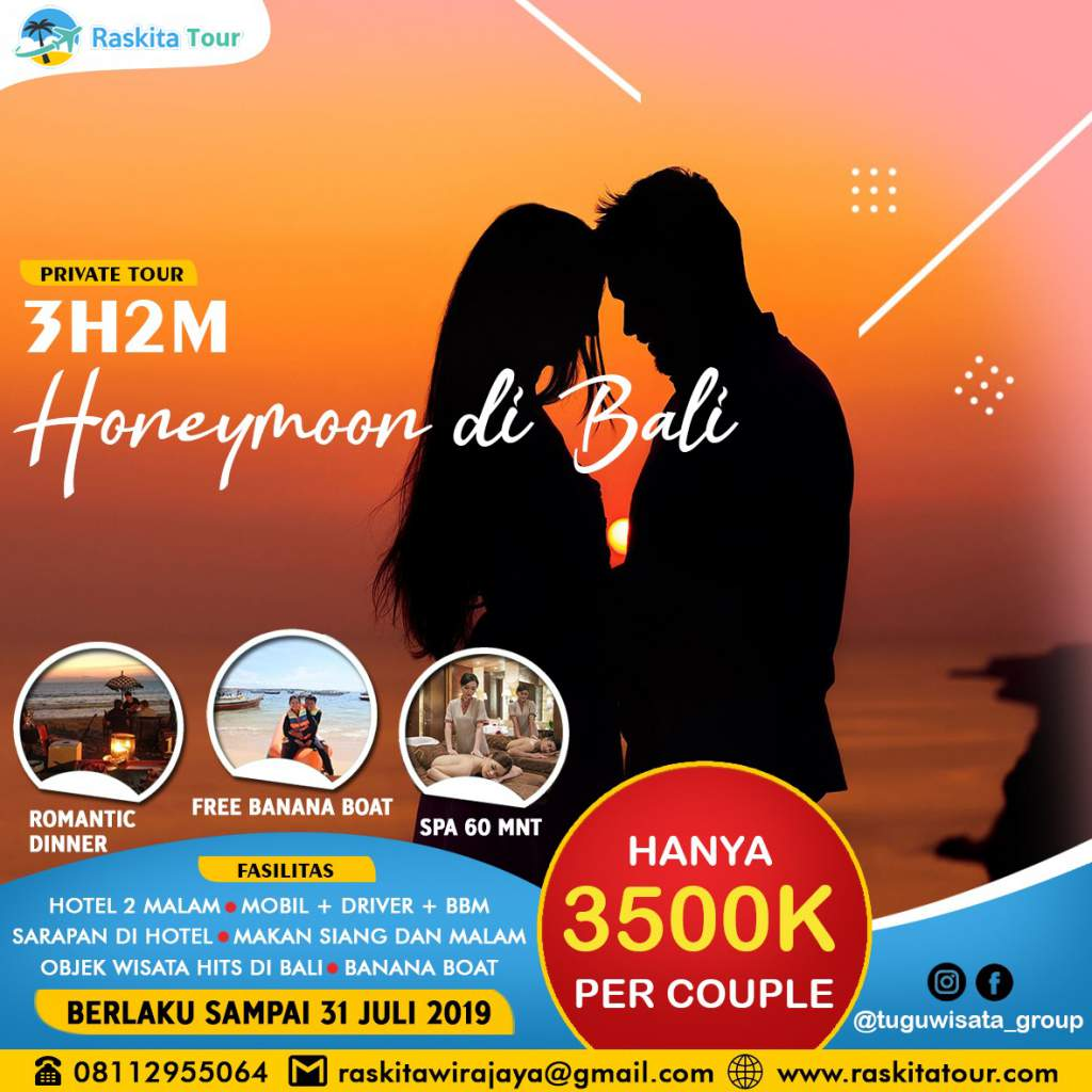 promo private tour ke bali honemoon 3H2M