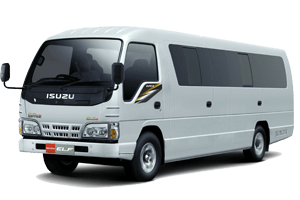 sewa isuzu elf long lombok